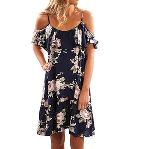 Dresses & Skirts - Floral Cold Off Shoulder Summer Dress
